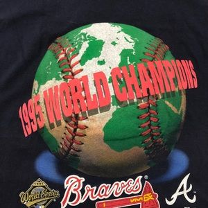 Lee Sport Shirts - 1995 Atlanta Braves World Series T-shirt Sz Large
